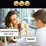 Born Status Funny Meme