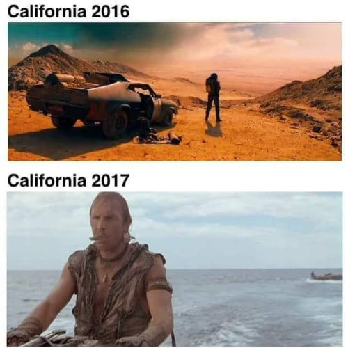 California 2016 vs 2017 Funny Meme