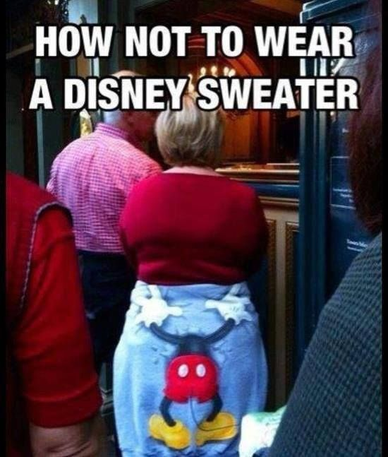 Disney sweater fail Funny Meme