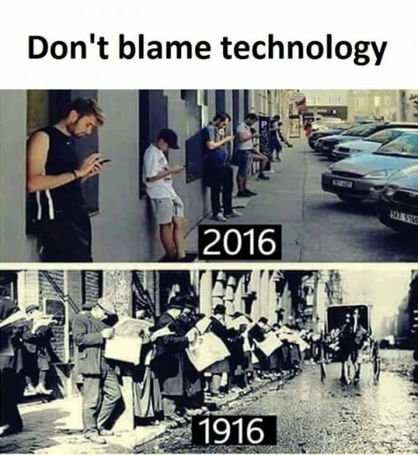 Don't Blame Technology Funny Meme