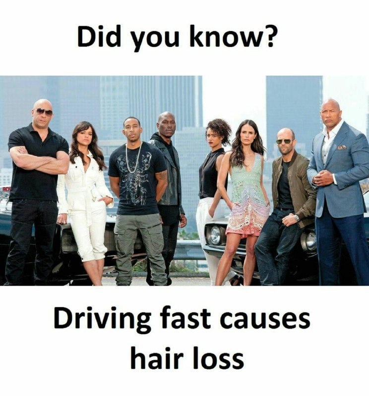 Driving Fast Causes Hair Loss Funny Meme