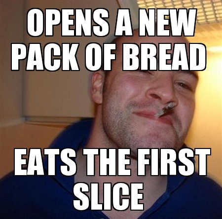 Eats the first slice Funny Meme