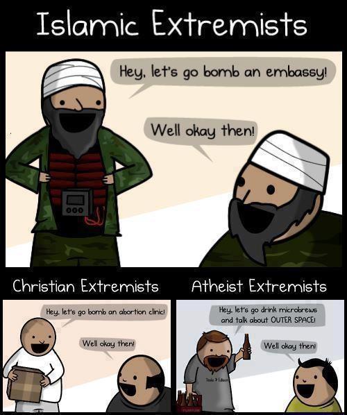 Extremists Funny Meme