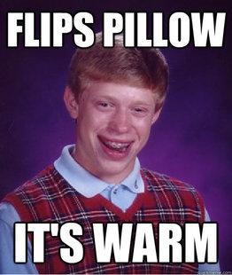 Flips Pillow Funny Meme