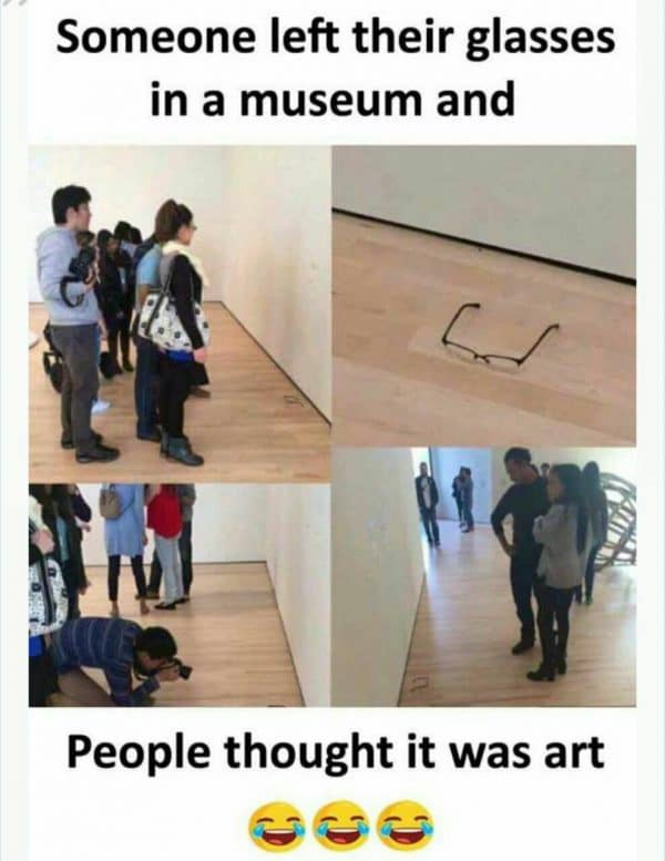 Glasses Art in the Museum Funny Meme