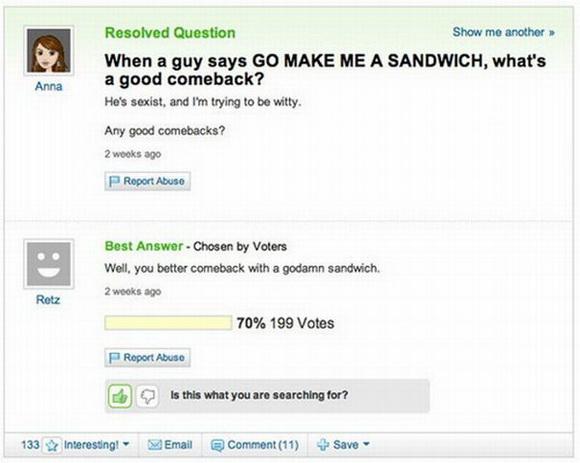 Go make me a sandwich Funny Meme
