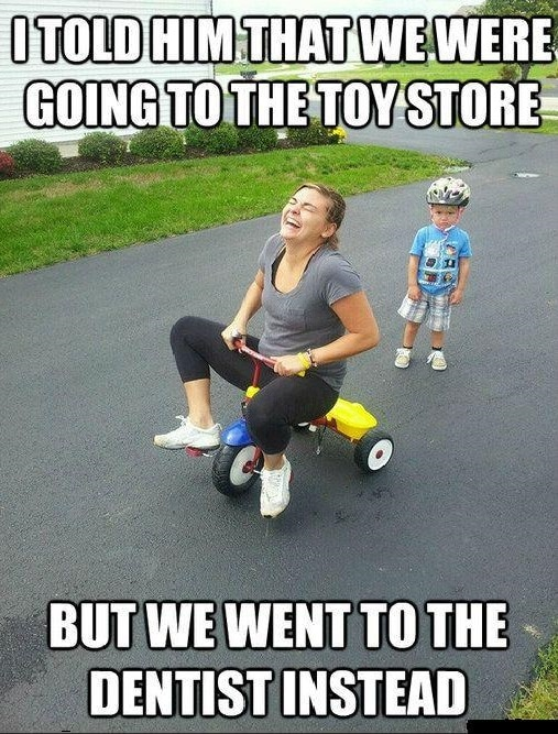 Going_Toy_Store_But_Went_to_Dentist_Funny_Meme kid memes funny memes