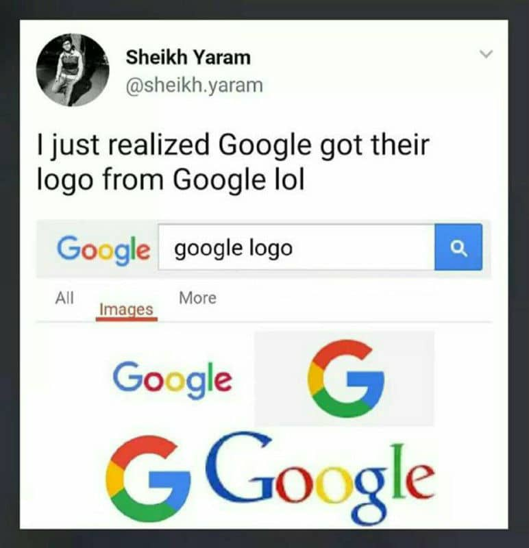 Google got Logo from Google Funny Meme