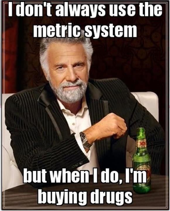 I Dont Always Use The Metric System Funny Meme