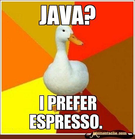 I Prefer Espresso Funny Meme