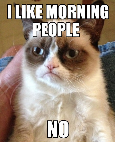 I like morning people Funny Meme
