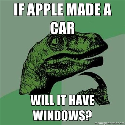 If Apple Makes a Car Funny Meme