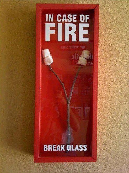 In Case of Fire Funny Meme