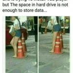 Installing VLC Player but no space in Hard Drive Funny Meme