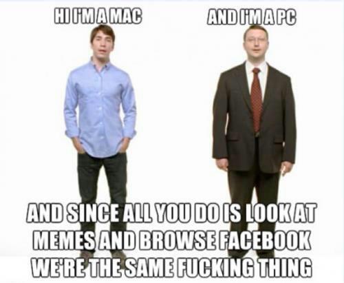 Mac & PC SAME THING Funny Meme
