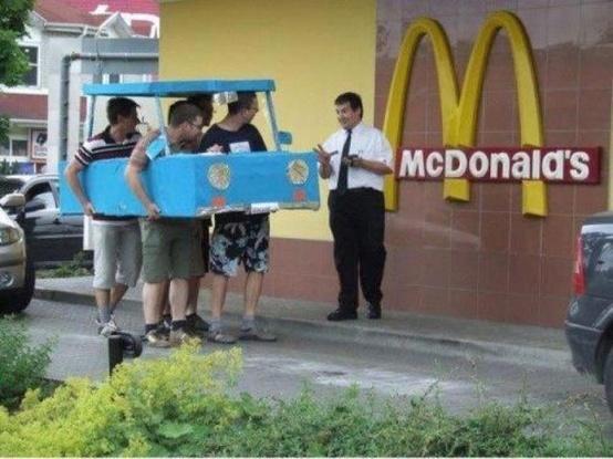 McDonalds Drive Through Like a Boss Funny Meme