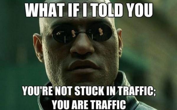 Morpheus Stuck in Traffic Funny Meme
