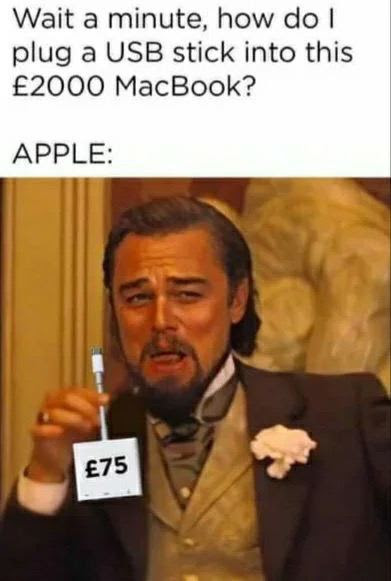 How to plug USB Stick in the MacBook Funny Meme