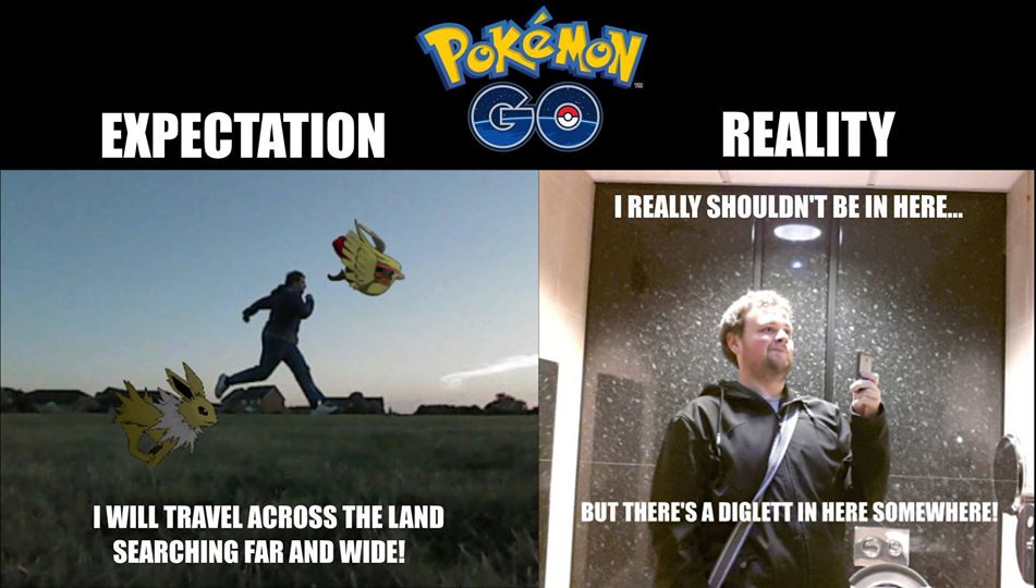 Pokemon Go Expectation Vs Reality Funny Meme