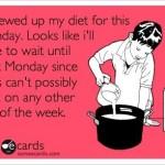 Screwed Up My Diet Funny Meme