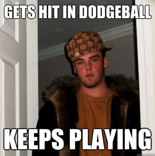 Steve Plays Dodgeball Funny Meme