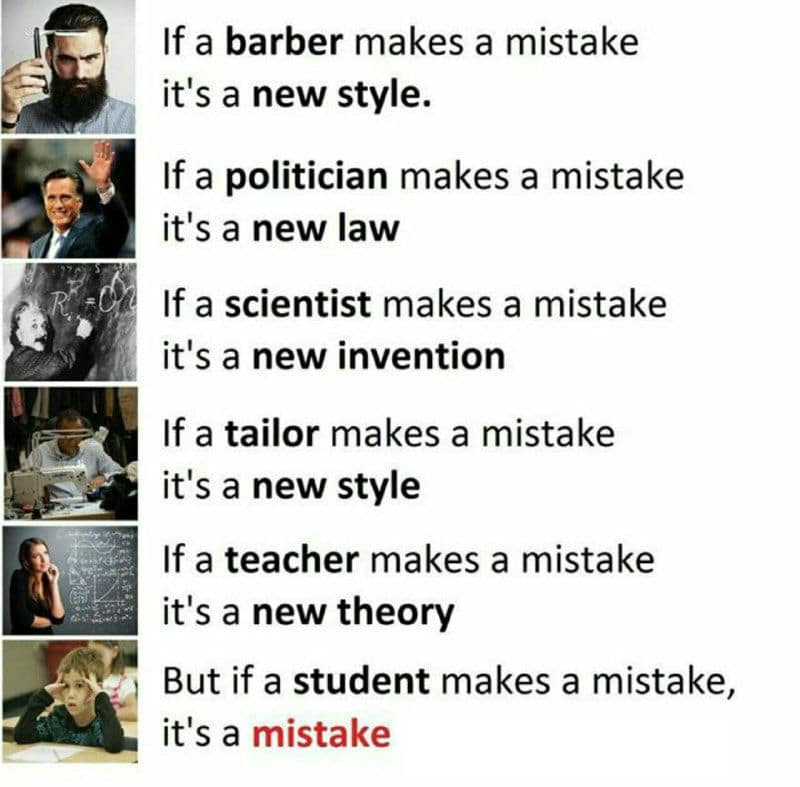 Student_makes_Mistake_is_Mistake_Funny_Meme student makes mistake is mistake funny meme funny memes