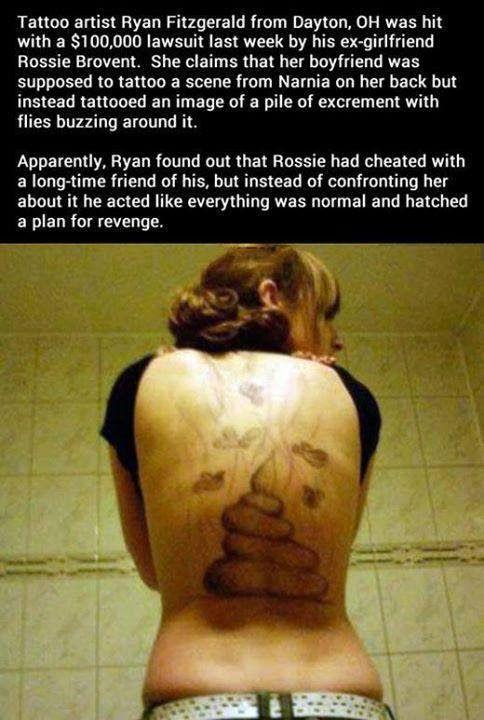 Tattoo artist stinky revenge Funny Meme