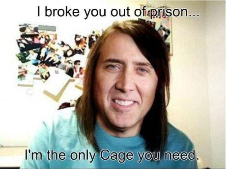 The Only Cage You Need Funny Meme