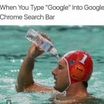 Type Google on Chrome Search Bar