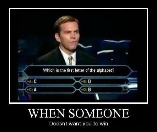 Who Wants to Be a Millionaire Funny Meme