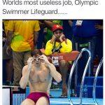 Worlds most useless job Swimmer Lifeguard Funny Meme