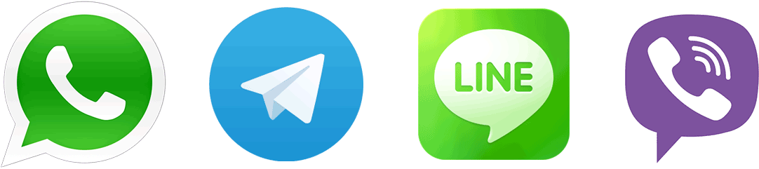 WhatsApp, Telegram, Line and Viber Mobile Apps