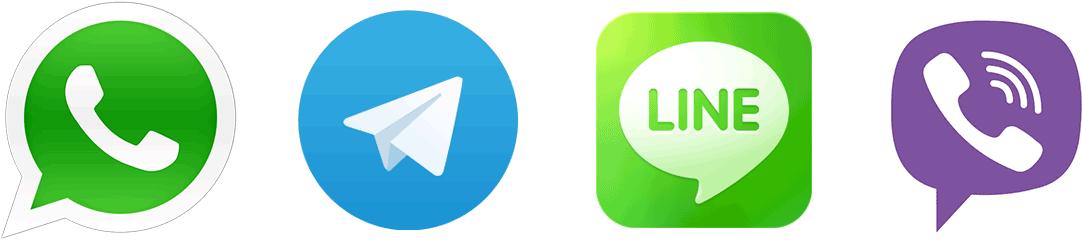 whatsapp telegram viber line ile ilgili görsel sonucu